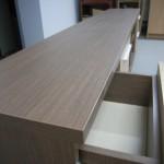 šešių stalčių svetainės komodos storintas viršus