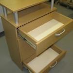 2 stalčių svetainės komoda su kokybiškais bėgeliais