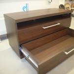 2 stalčių vaikų komoda su kokybiškais bėgeliais