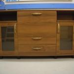 3 durelių jaunuolio komoda su 2 stalčiais ir atviromis lentynomis