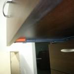 4 stalčių prieškambario komoda su vokiškais blum bėgeliais