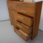 5 stalčių prekystalis biuro komoda su kokybiškais bėgeliais