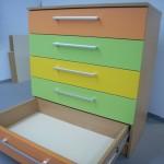 5 stalčių vaikų kambario komoda