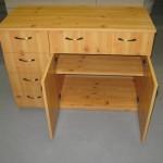 6 stalčių biuro komodos praviros dvi durelės