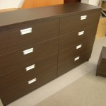8 stalčių biuro komoda