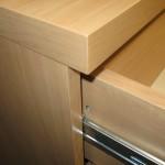 praviras virtuvės 4 stalčių komodos stalčius ir storintas stalviršis