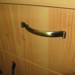 pušies spalvos 6 stalčių prieškambario komodos stalčiaus rankenėlė