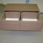 rudos 4 stalčių svetainės komodos praviri stalčiai be rankenėlių