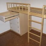 rudos 5 stalčių vaikų komodos praviras stalčius baltu priekiu
