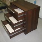 trejetos stalčių biuro komoda praplatintu šonu