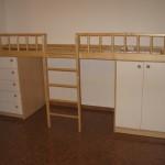 vaikų kambario komoda dvejomis durelėmis dešinėjė