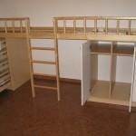 vaikų kambario komoda praviromis dvejomis durelėmis