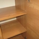 vaikų kambario komodos lentynų aukštis reguliuojamas