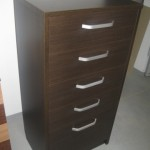 5 stalčių tamsiai rudos spalvos prieškambario  batų dėžė komoda su įleistais stalčiais