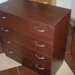 raudonmedžio spalvos biuro komoda 4 stalčių su akcija