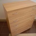 ruda į rusvumą 5 stalčių akcijinė biuro komoda