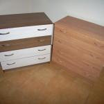 ruda ir rusva ketverių stalčių akcijinės svetainės komodos