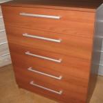 rusva penkių stalčių akcijinė komoda svetainės kambariui