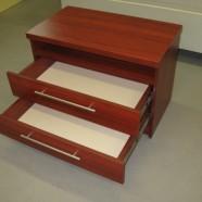prieškambario komodos dviem stalčiais