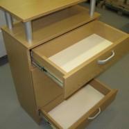 svetainės komodos dviem stalčiais